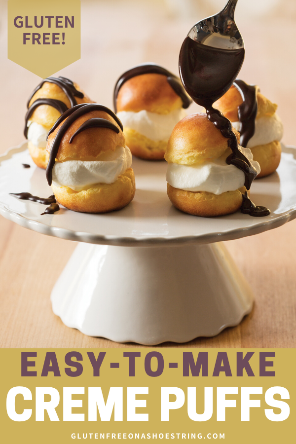 Easy-To-Make Gluten Free Creme Puffs #cremepuff