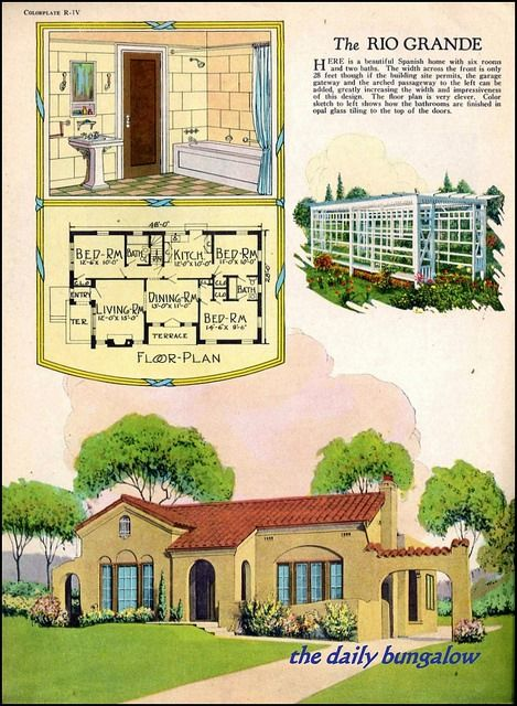 1926 Radford Home Fireside And Garden On Flickr Spanish Style Homes Bungalow House Plans Spanish Bungalow