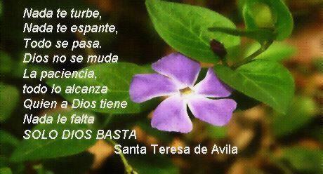 Oración de Santa Teresa de Avila.