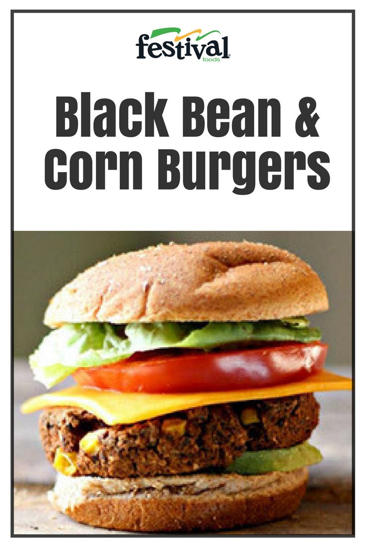Black Bean Corn Burgers Festival Foods Recipe Corn Burger Black Beans Food