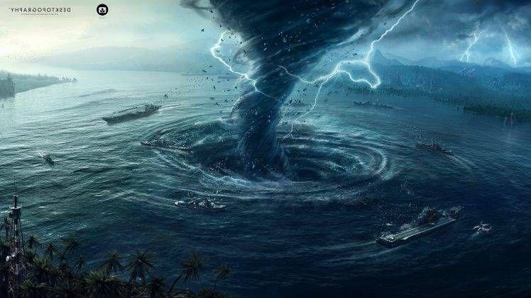 Desktopography Natural Disaster Hurricane Water Digital Art Tornado Wallpapers Hd Desktop And Mobile Backgrounds In 2020 Phone Wallpapers Vintage Background Natural Disasters