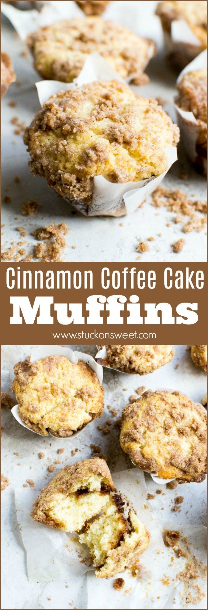Cinnamon Coffee Cake Muffins - Stuck On Sweet