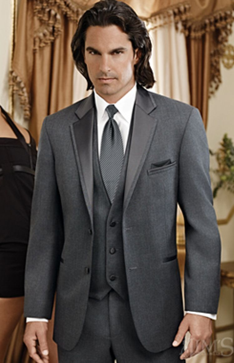 grey-jean-yves-steel-grey-2-button-notch-lapel-tuxedo-coat-342-JF ...