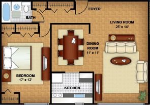 900 Square Foot One Bedroom Apartment Floor Plan Image Google Search Architecture Plans