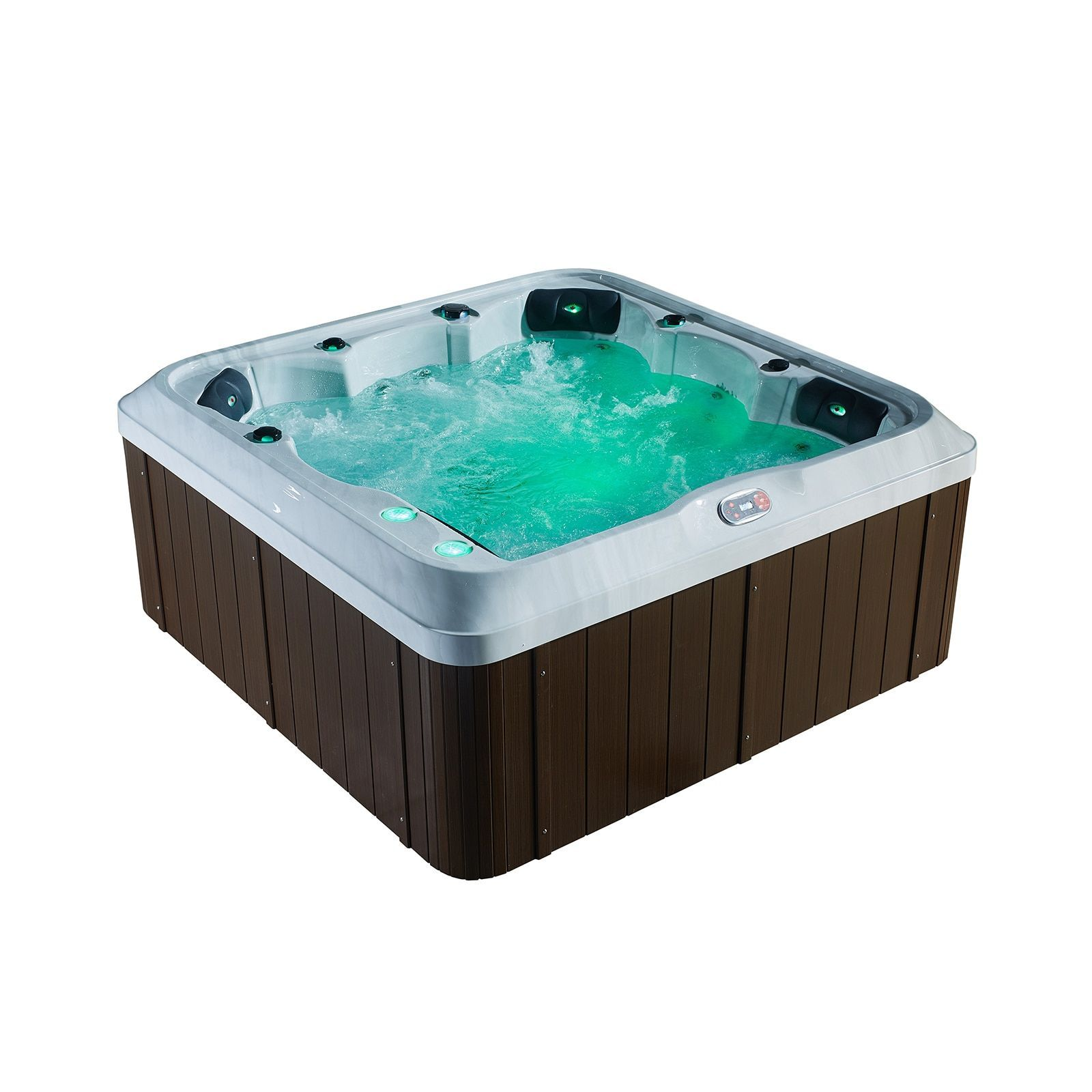 Canadian Spa Company Montreal SE 6-Person 25 Jet Hot Tub | Patio ...