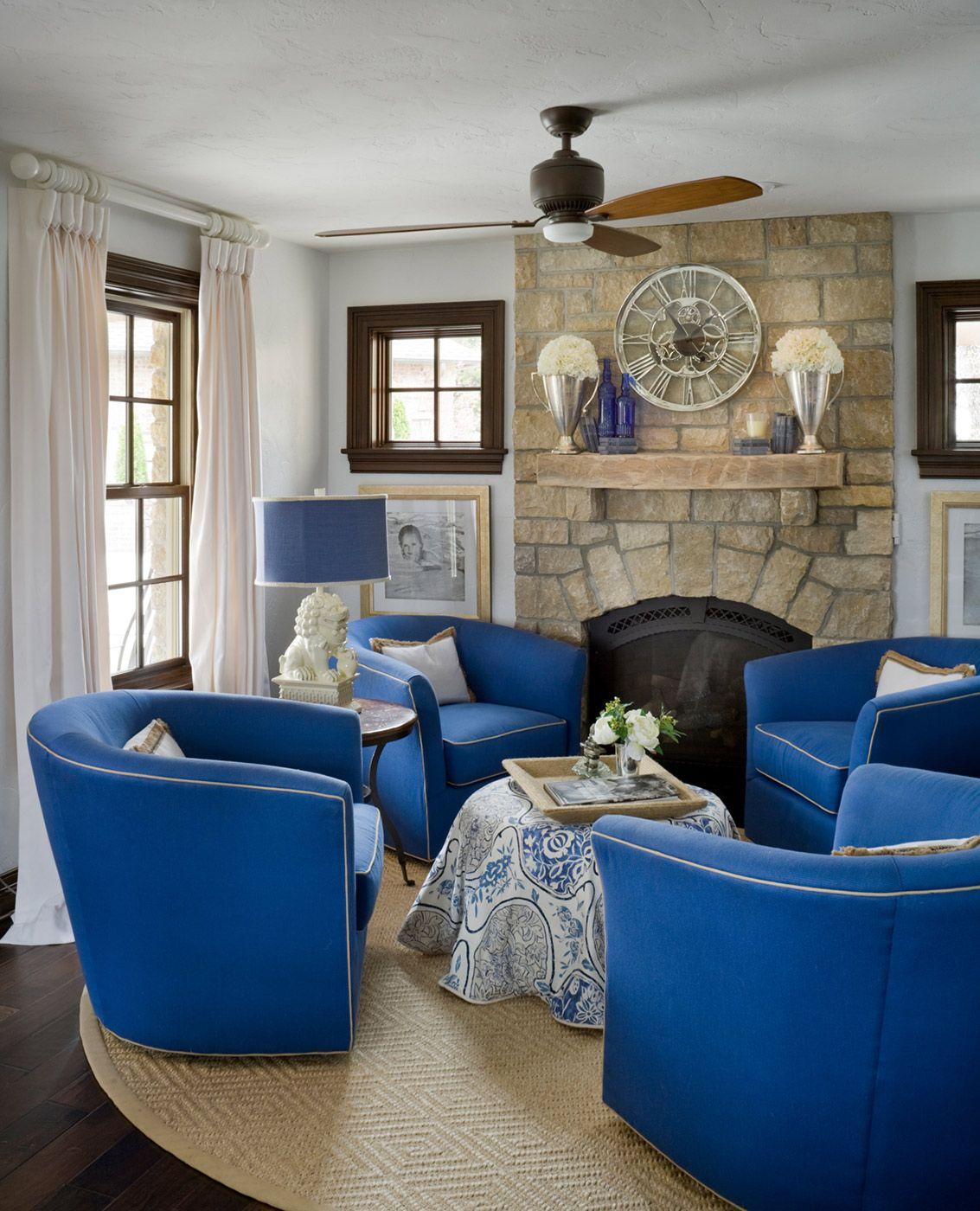 Best Blue Cobalt Martine Haddouche Interior Design Living 640 x 480