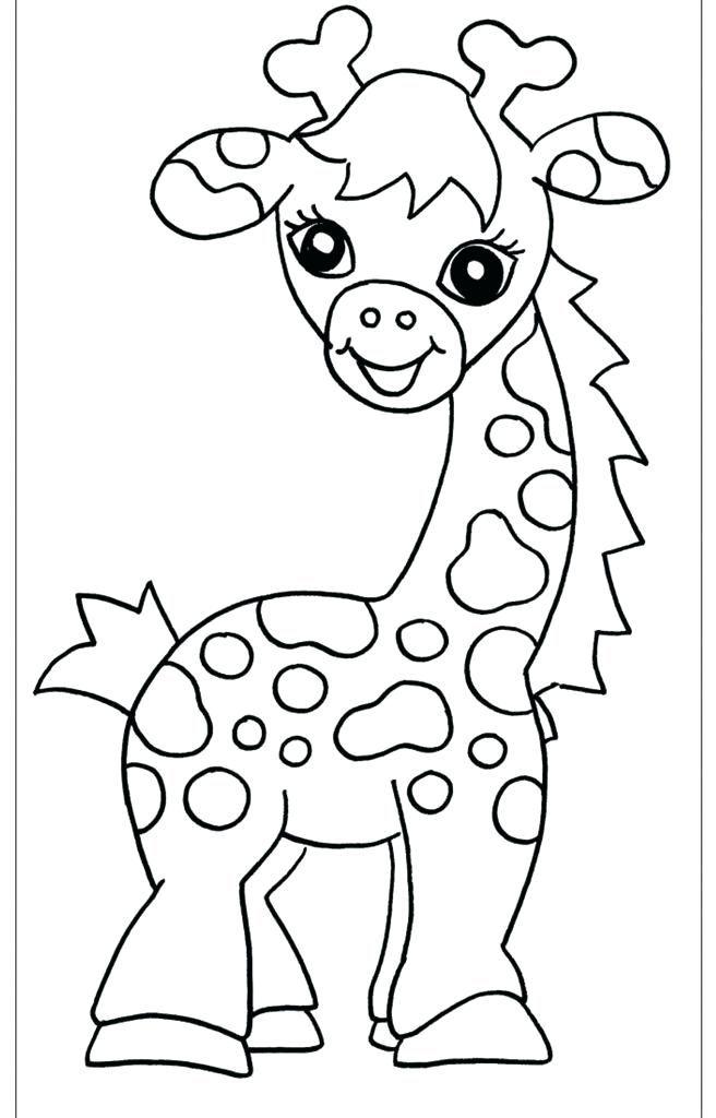 Pagina da colorare giraffa per i picco cute per disegni da for Disegni di lupi da stampare