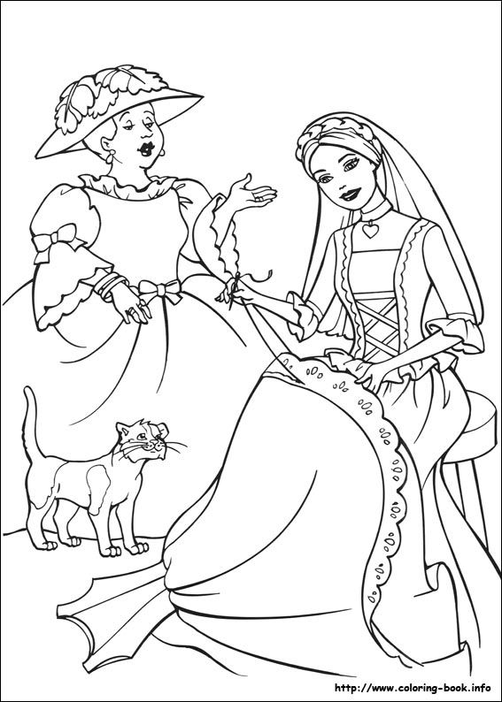 Barbie As The Princess And The Pauper Coloring Picture Princess Coloring Pages Barbie Coloring Pages Princess Coloring