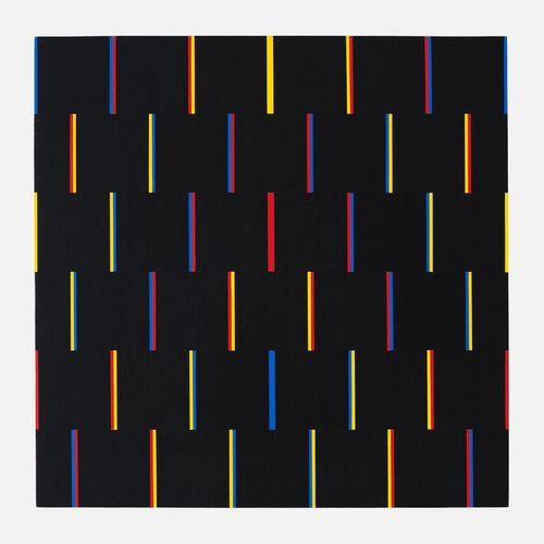 Claude Pasquer Partition symétrique N°6, 2001  80x80 cm