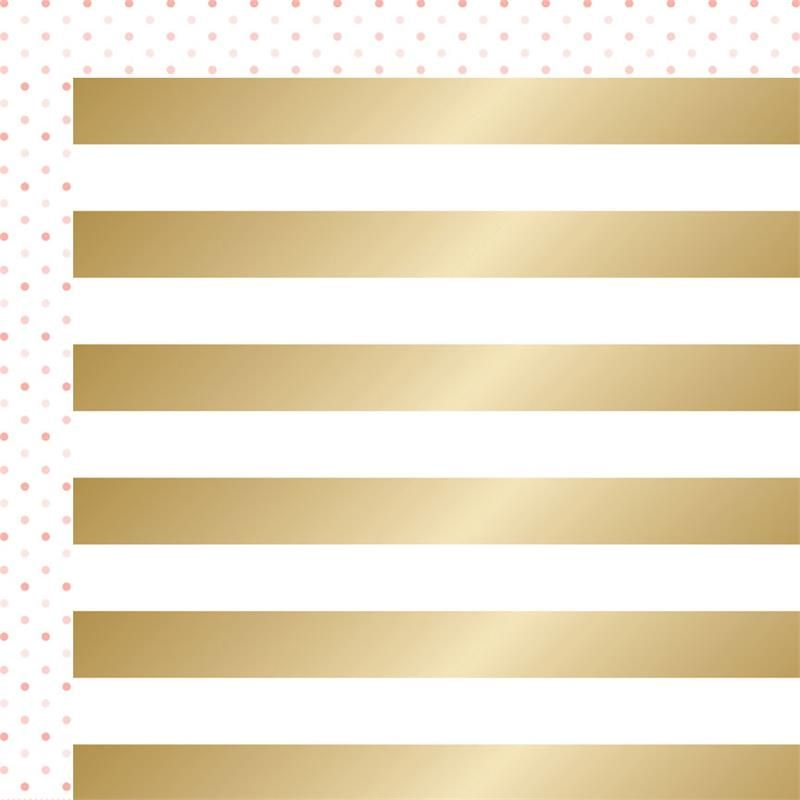TC Project Pink 12x12 Double-sided Cardstock Cabana (gold foil treatment) PC1002 X 2