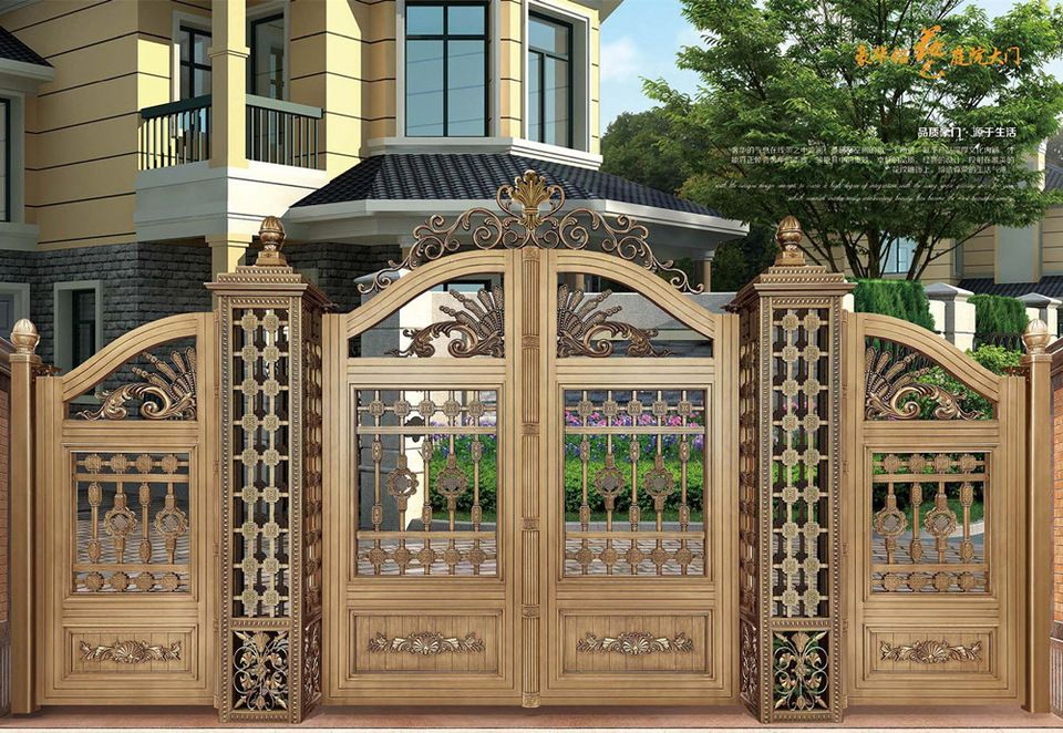 Indian house main gate designs with aluminum gate model for Indian house main door designs