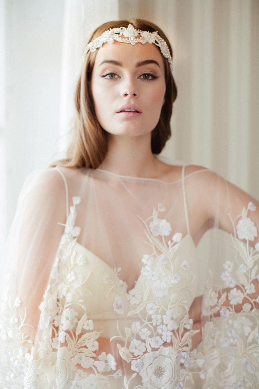 Beautifully bohemian bridal hair accessories for bridal hair