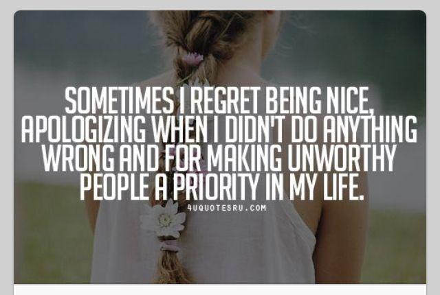 I'm Too Nice...