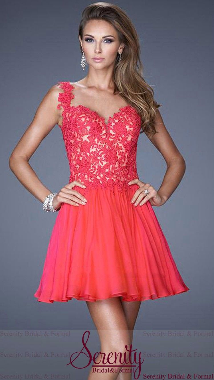 Vestidos Para Festa Sexy See-through Lace Appliques Back A-Line Mini Skirt Above Knee Sweetheart Chiffon Prom Dress 2015 | Moda Fashion Sale