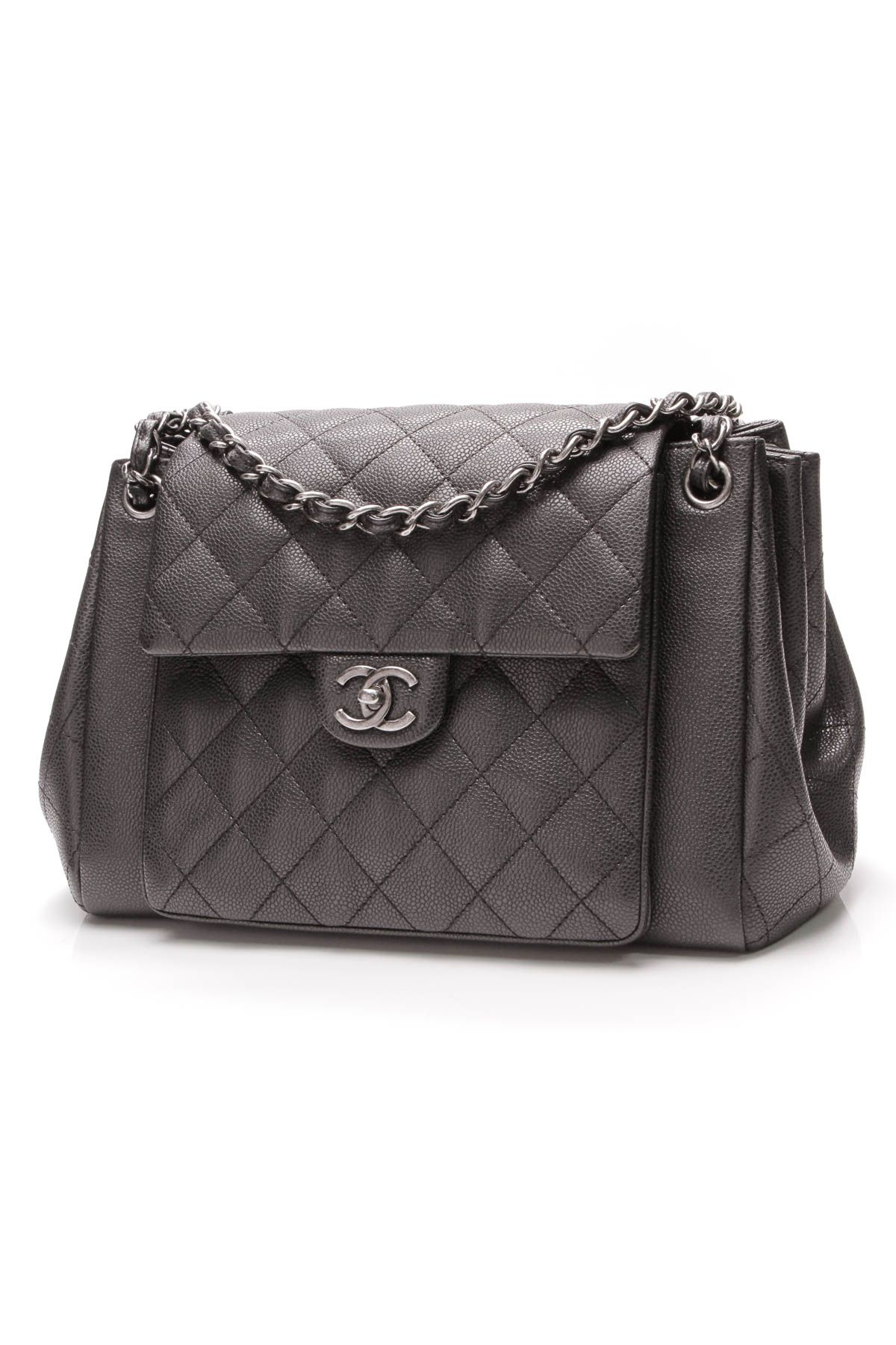 a7dbe155e3c4 Chanel Accordion Flap Bag - Black Caviar
