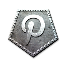 Pinterest Silver Social Media Icons Icon Symbols
