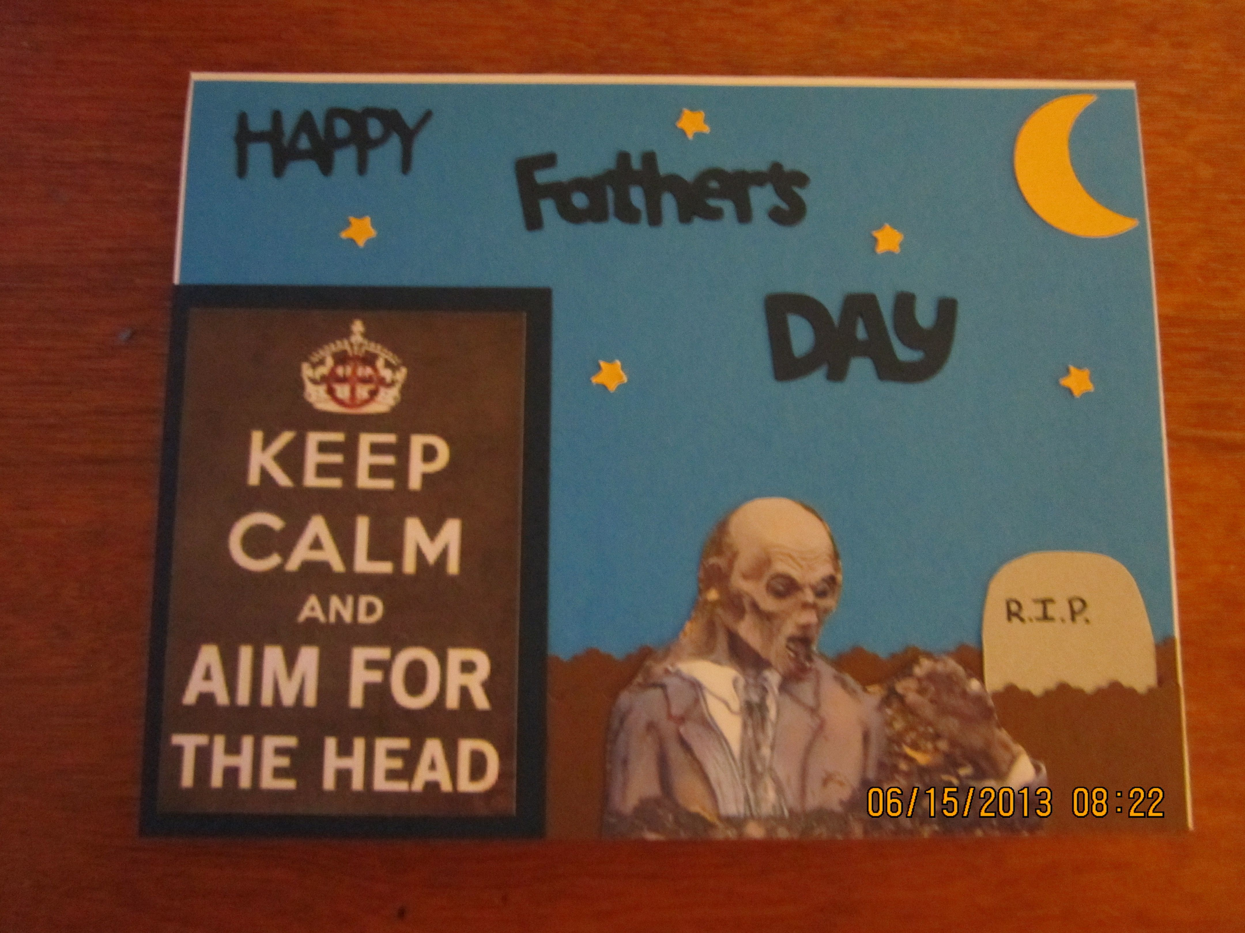 FATHER'S DAY ZOMBIE CARD