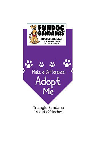 Mini Bandana Make A Difference Adopt Me For Small Dogs Less Than 20 Lbs Purple Read More Reviews Of The Product B Small Dogs Small Dog Clothes Pet Supplies