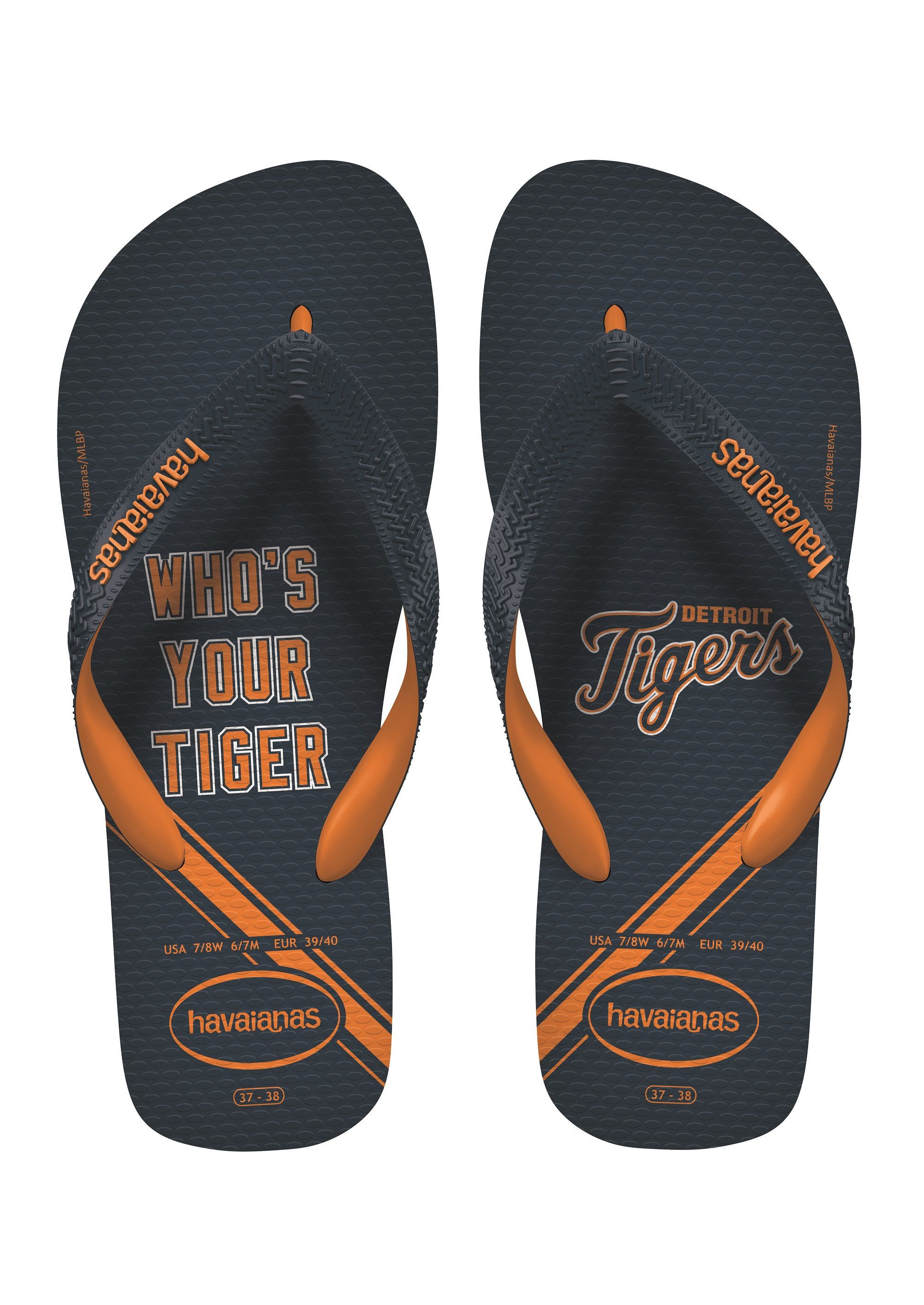 7f30bed218a9 Havaianas Top Mlb Sandal Navy Neon Orange Price From  £17.88