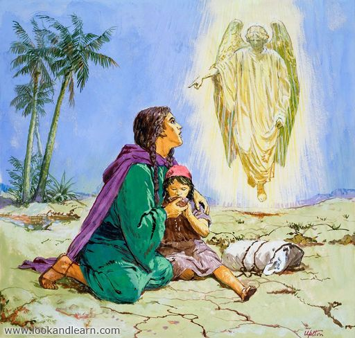 Hagar Ishmael And The Angel With Images Bible Illustrations