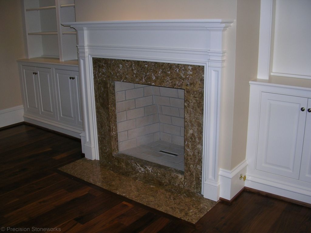 Atlanta Granite Fireplace Marron Cahiba http://precisionstoneworks ...