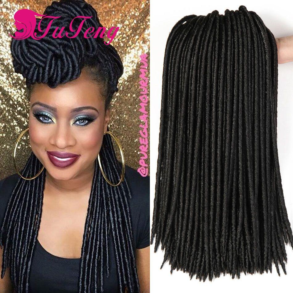 Crochet Faux Locs Synthetic Xpression Braiding Hair Braids Extensions Dreadlock Dess