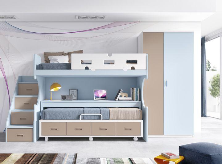 literas para dormitorios pequeños | El blog de MueblesFun | Pinterest