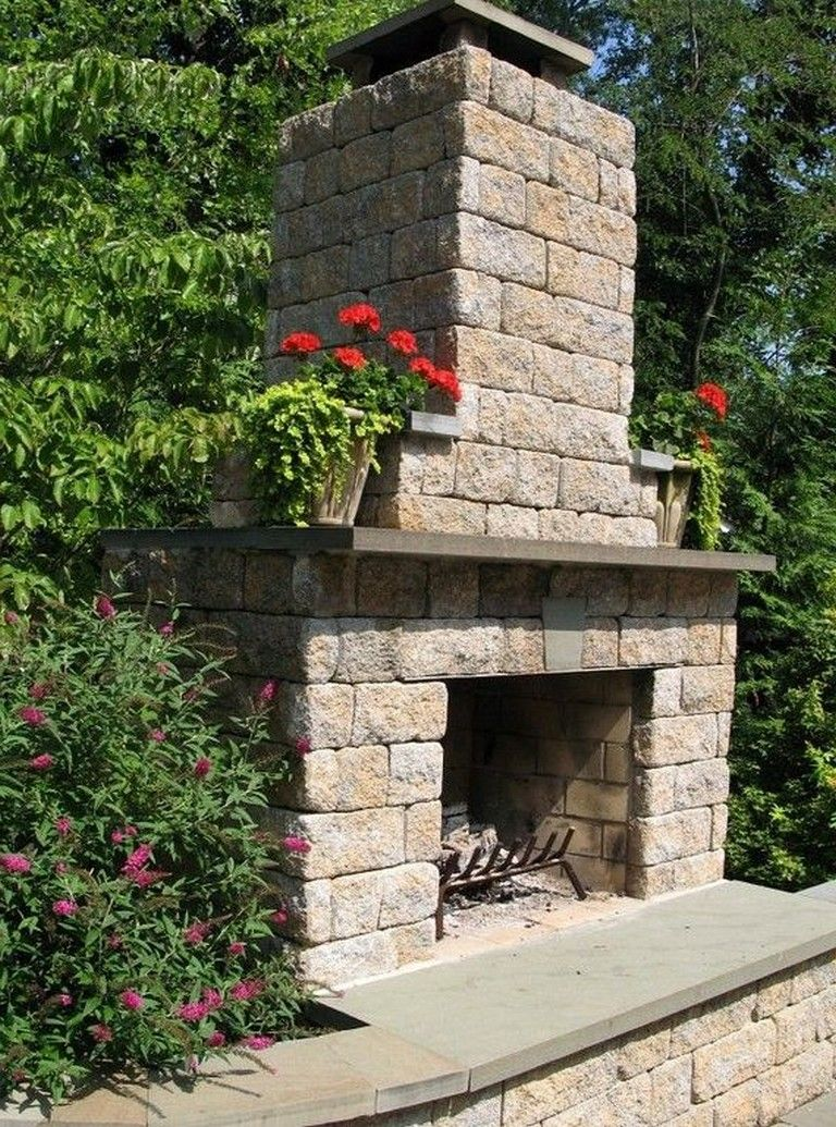 20 Elegant Outdoor DIY Fireplace Design Ideas That Easy To ... on Simple Outdoor Fireplace Ideas id=25925
