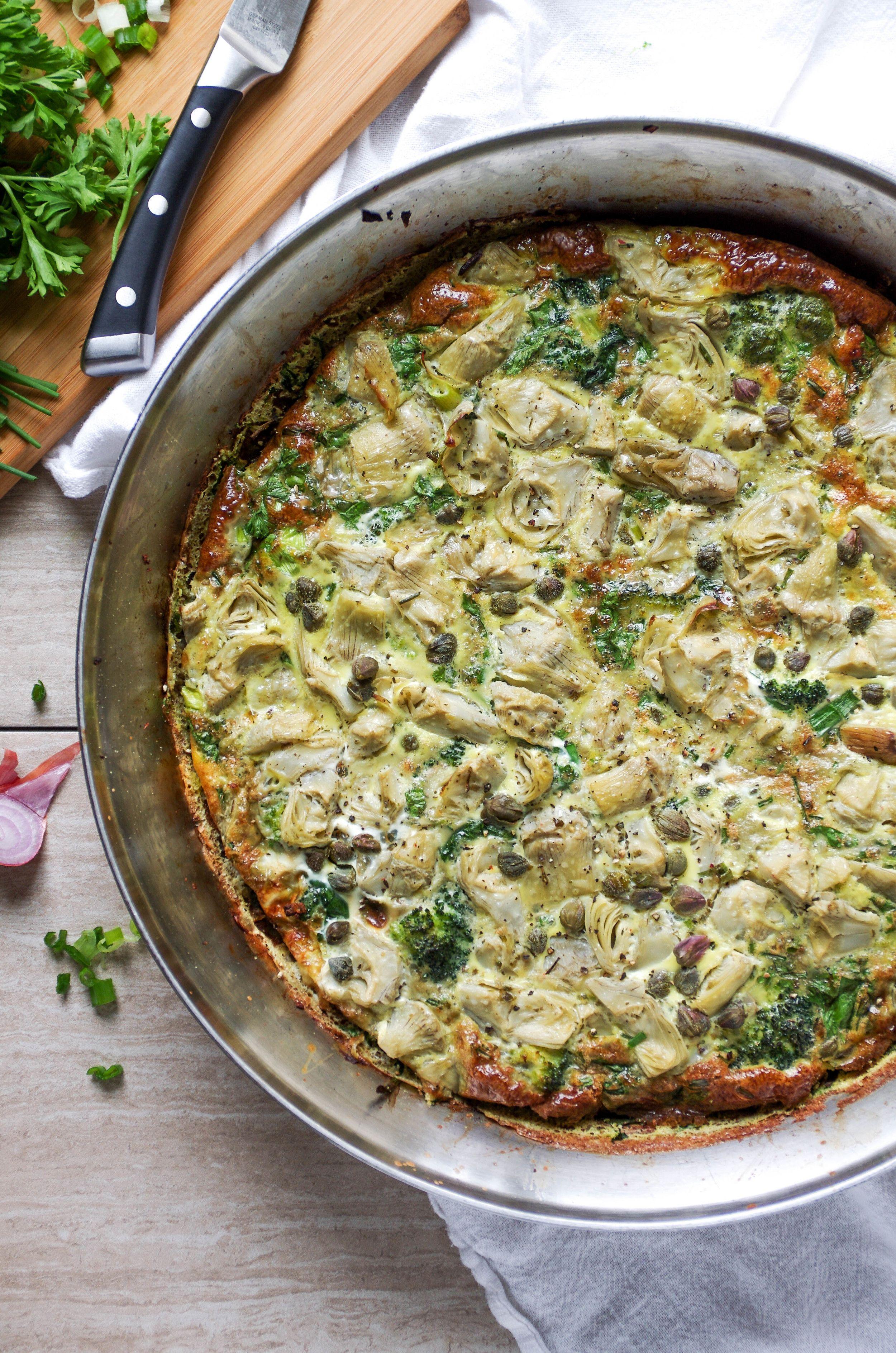 foto Easy Spinach Artichoke Frittata Recipe