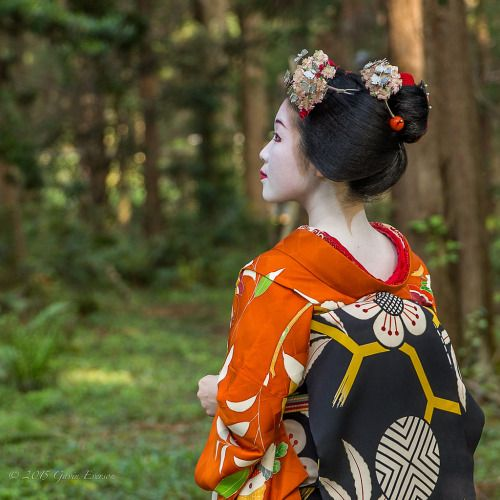 Maiko portrait session - Kyoto Botanical Gardens por Gavin EversonMaiko Tomitsuyu (Tomikiku)