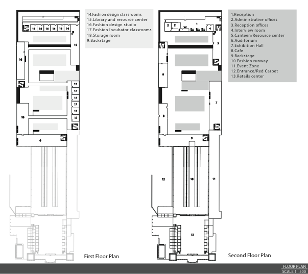 Jean Rudiampai Kuonsongtham Fashion Incubator Floor Plan Showing First And Second Floor Plan Of The Building The Arrangeme Design Studio Interview Rooms Design