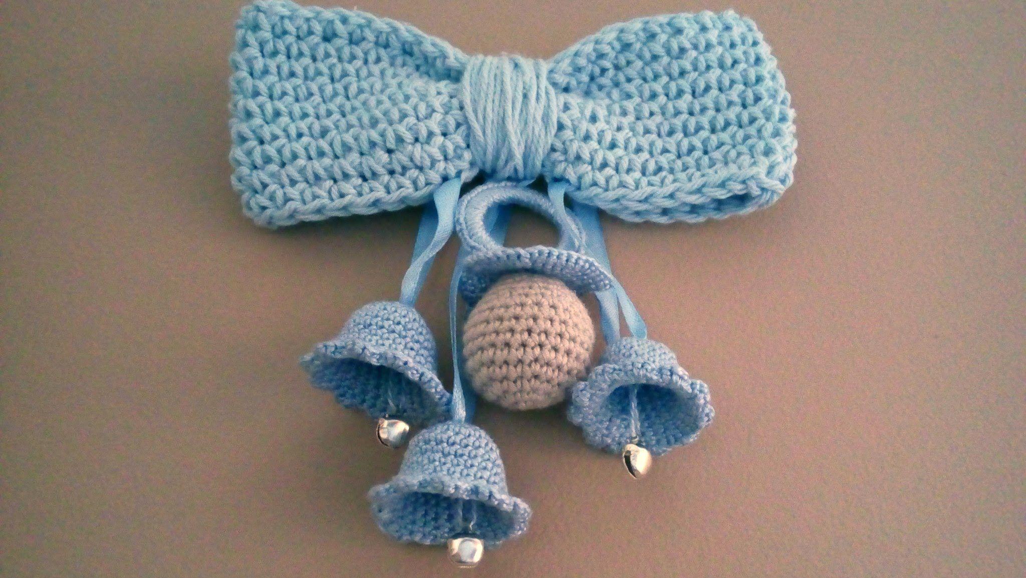Campanas y chupete a crochet tutorial. | accesorios | Pinterest ...