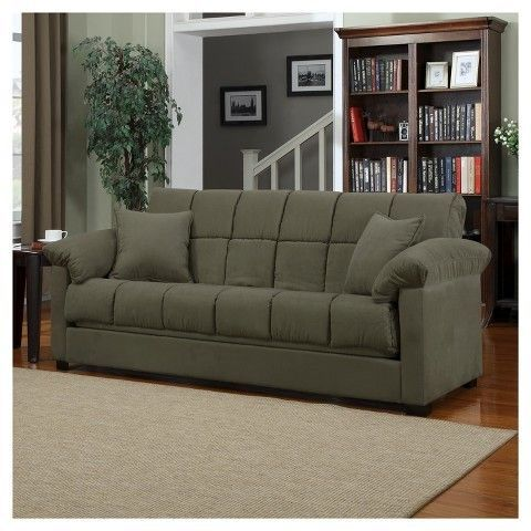 Convert A Couch Maurice Microfiber Pillow Top Arm Convert A Couch