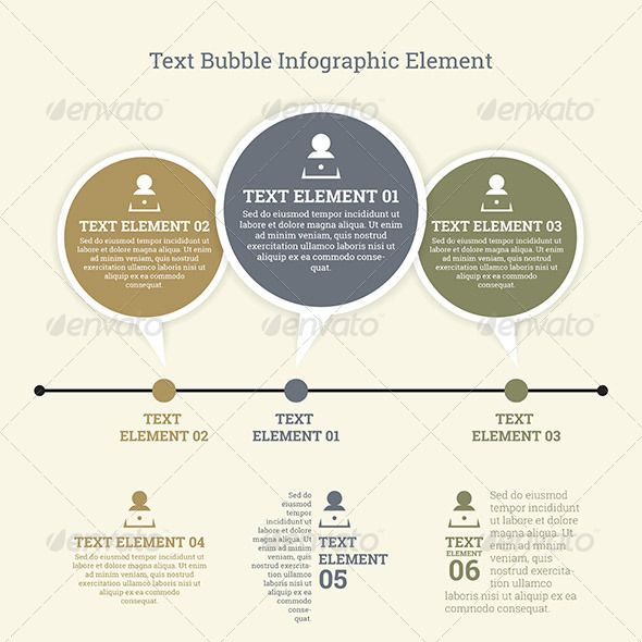 Text Bubble Infographic Element  Text Bubble Infographic And Texts