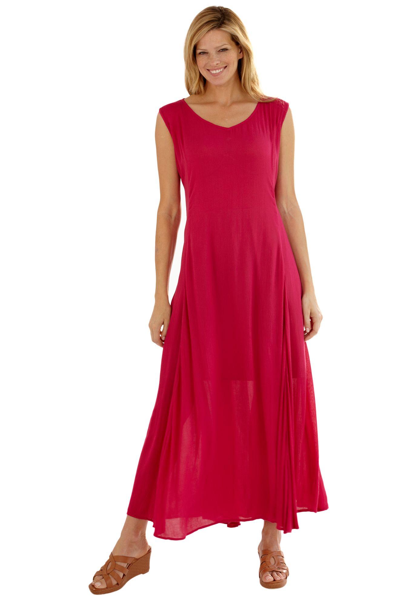 796a0da3618 Dress in maxi length with V-neck