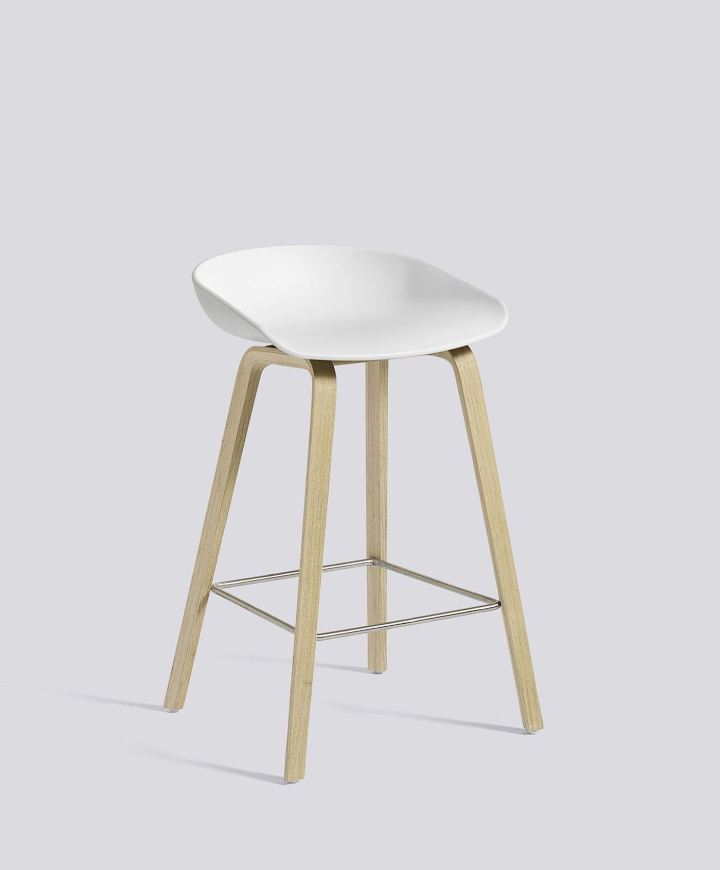 Phenomenal Aas32 Oak Soap Low White Shell W Stainless Steel Footrest Caraccident5 Cool Chair Designs And Ideas Caraccident5Info