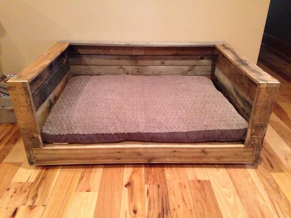 Pallet Dog Bed Built In Beefy Dimensions 15 Inspired Pallet