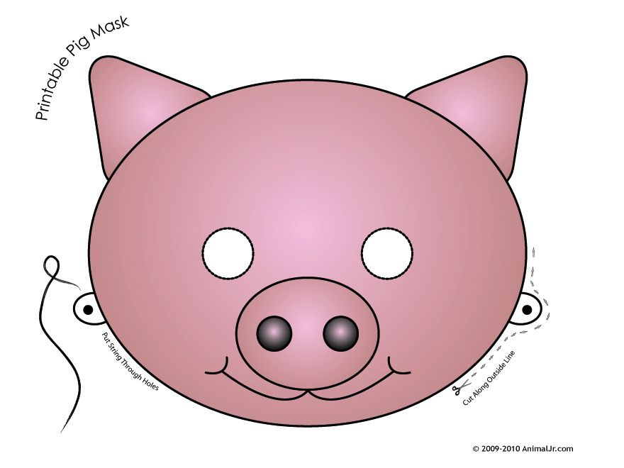 mask printable printable pig mask masks pig mask three little
