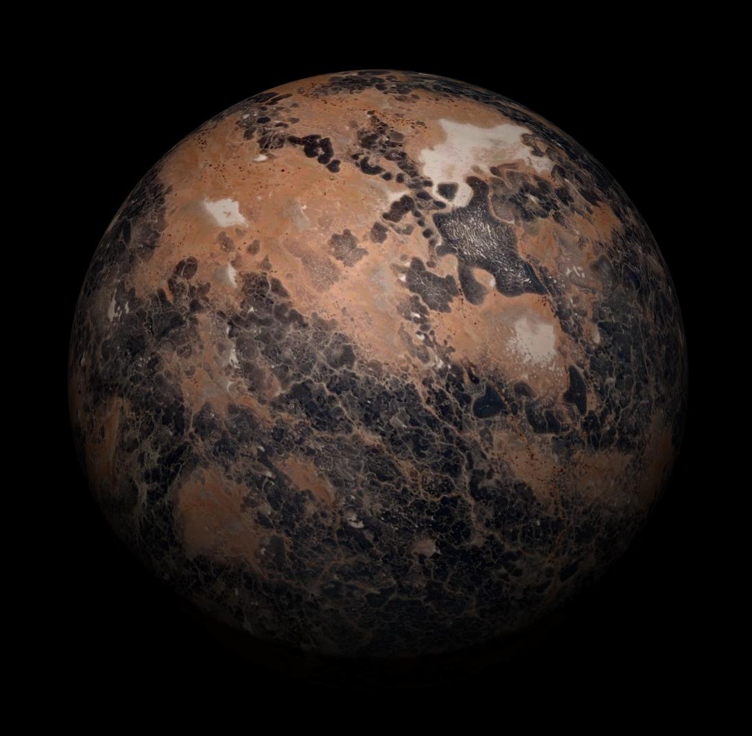 Fictional Alien Planet texture maps for artists  #3d #3dapp #unity3d