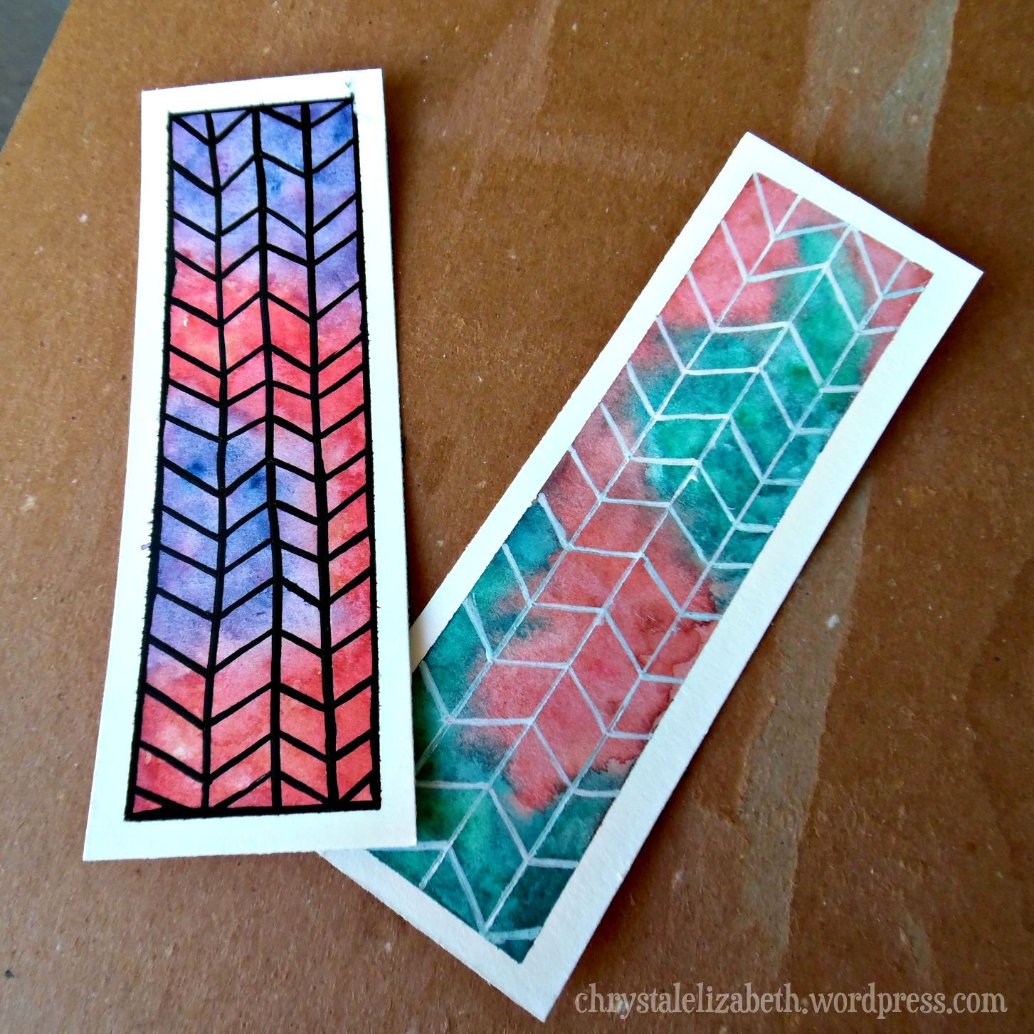 Diy Watercolor Bookmarks How I Made It Step By Step