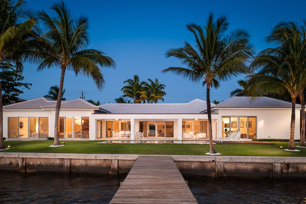 Sleek Modern Bermuda Style Home Palm Beach Interior Design