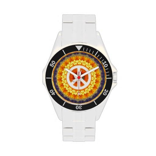 Psychedelic Peace Dove Watch