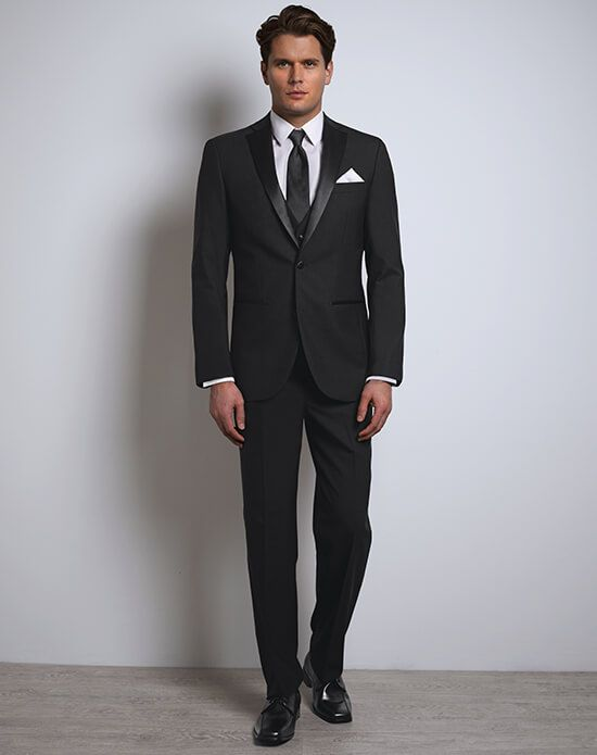 34e714d216f Justin Alexander Black Tux | Xedo Tuxedo Rental Justin Alexander's Black tux  celebrates the gold standard black-tie look but takes it to a new level  through ...