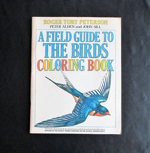 A Field Guide To The Birds Coloring Book 1982 Roger Tory Peterson Peter