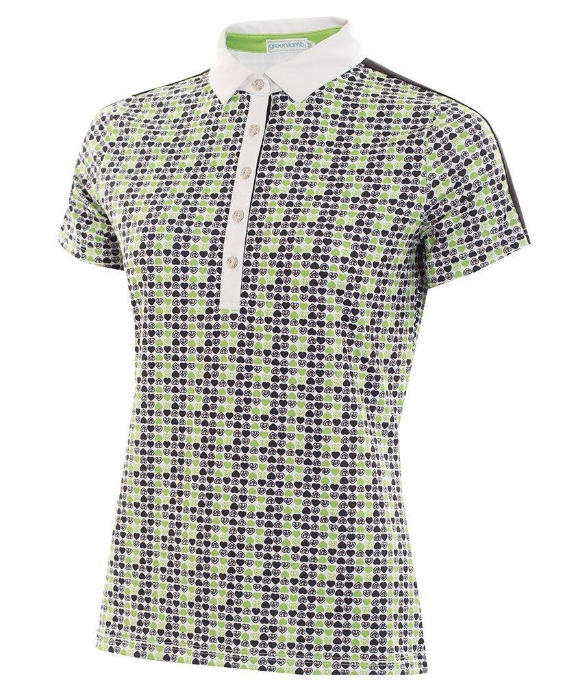 babe5559d Green Lamb Ladies Philippa Printed Polo Shirt - Golfonline | Green ...