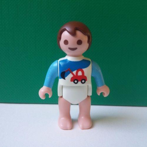 playmobil personnage bebe garcon cheveux bruns bleu blanc. Black Bedroom Furniture Sets. Home Design Ideas