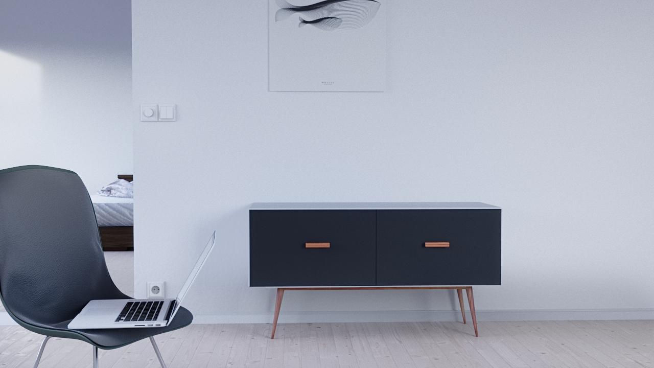 minimalistic interior rendering // Architecture