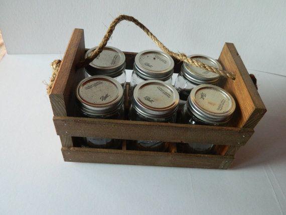 Simply Ciani Diy Mason Jar Crate Kidswoodcrafts Mason Jar Diy Diy Wood Box Mason Jars