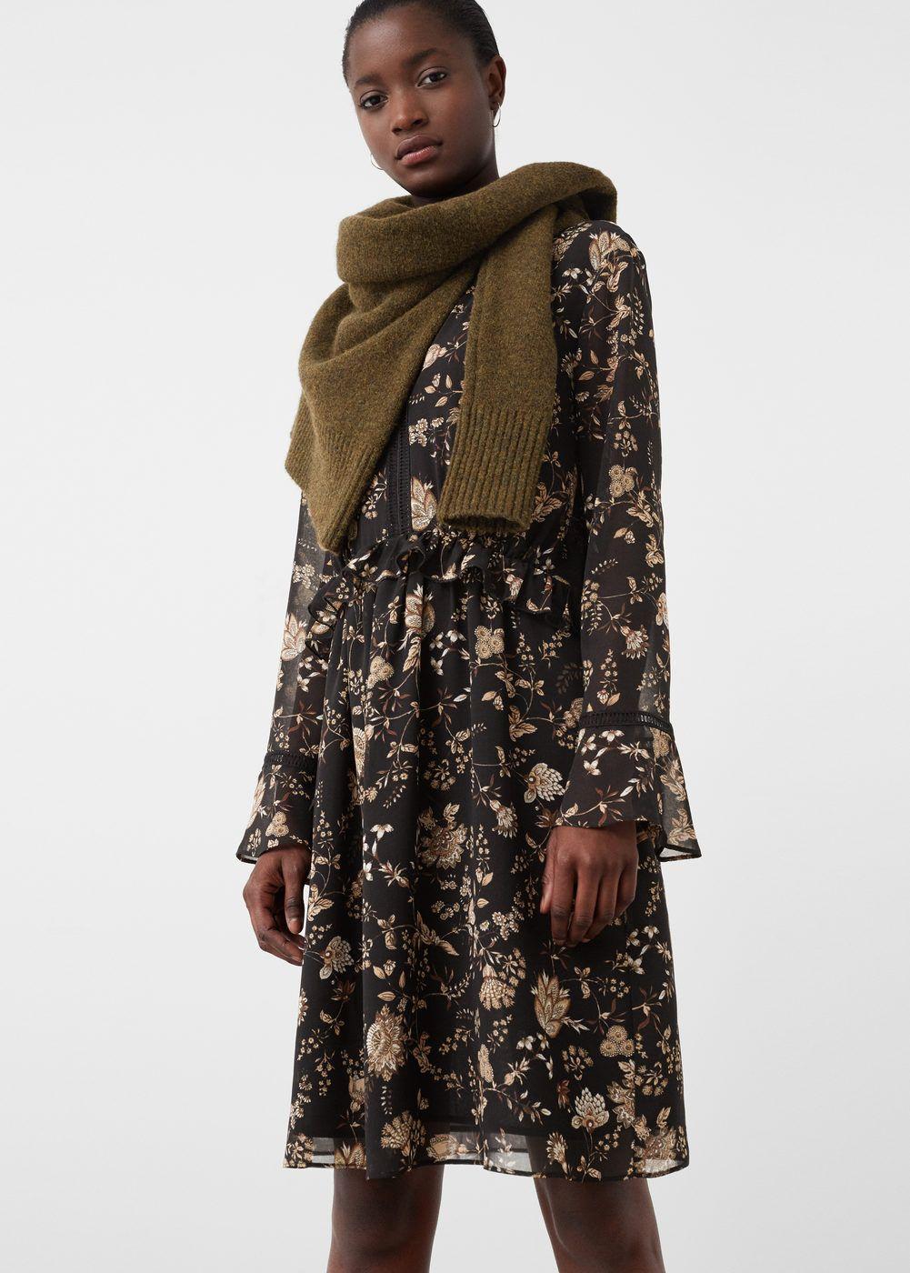 Fließendes print-kleid - Damen | Pinterest
