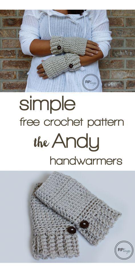 Simple Crochet Hand Warmer Pattern   Free crochet pattern ...